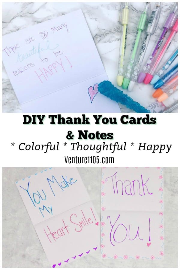 DIY Thank You Cards and Notes Colorful and Thoughtful