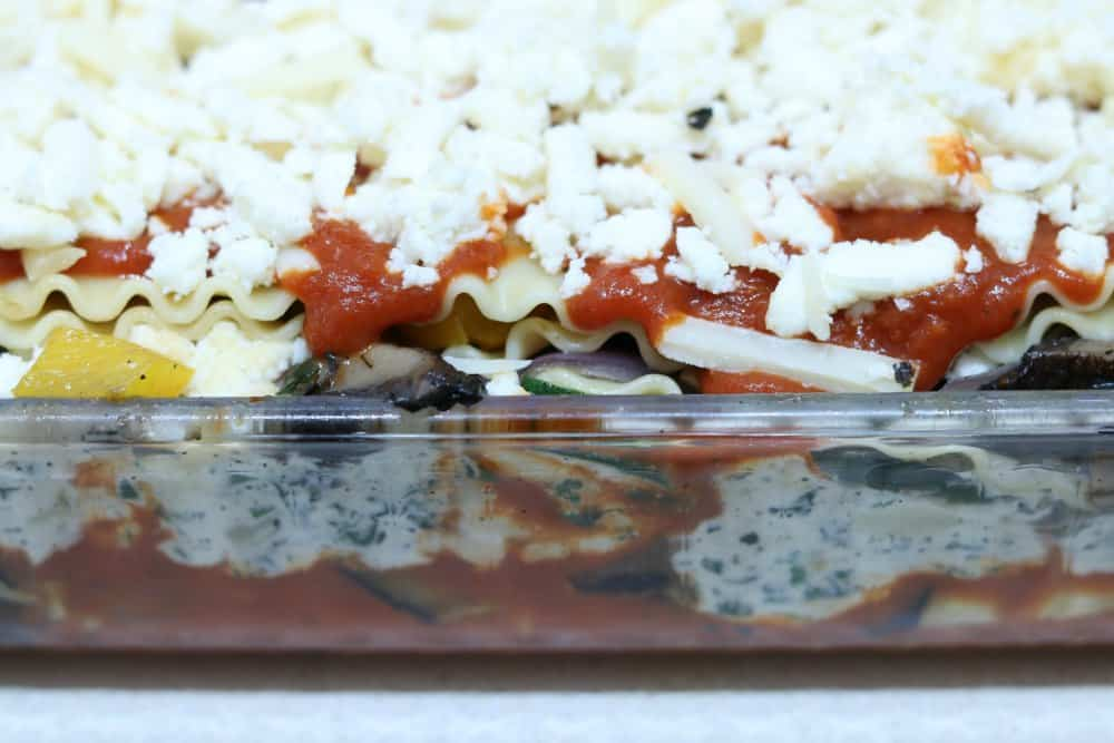 Vegetable Lasagna In Baking Dish