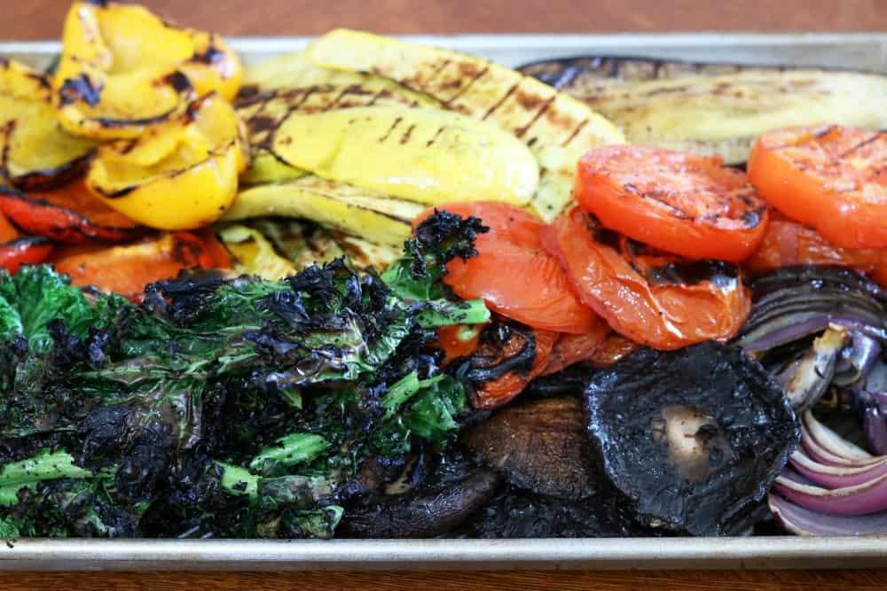 Grilled Vegetables On Sheet Pan