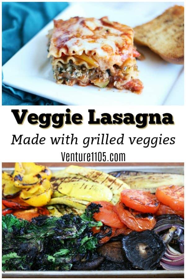 Veggie Lasagna Made with Grilled Veggies