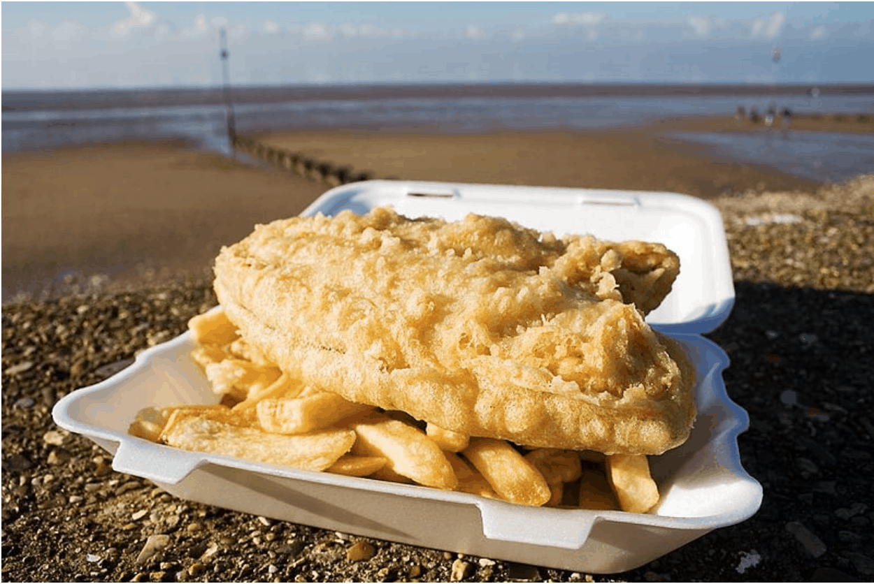 UK Fish and Chips Meal