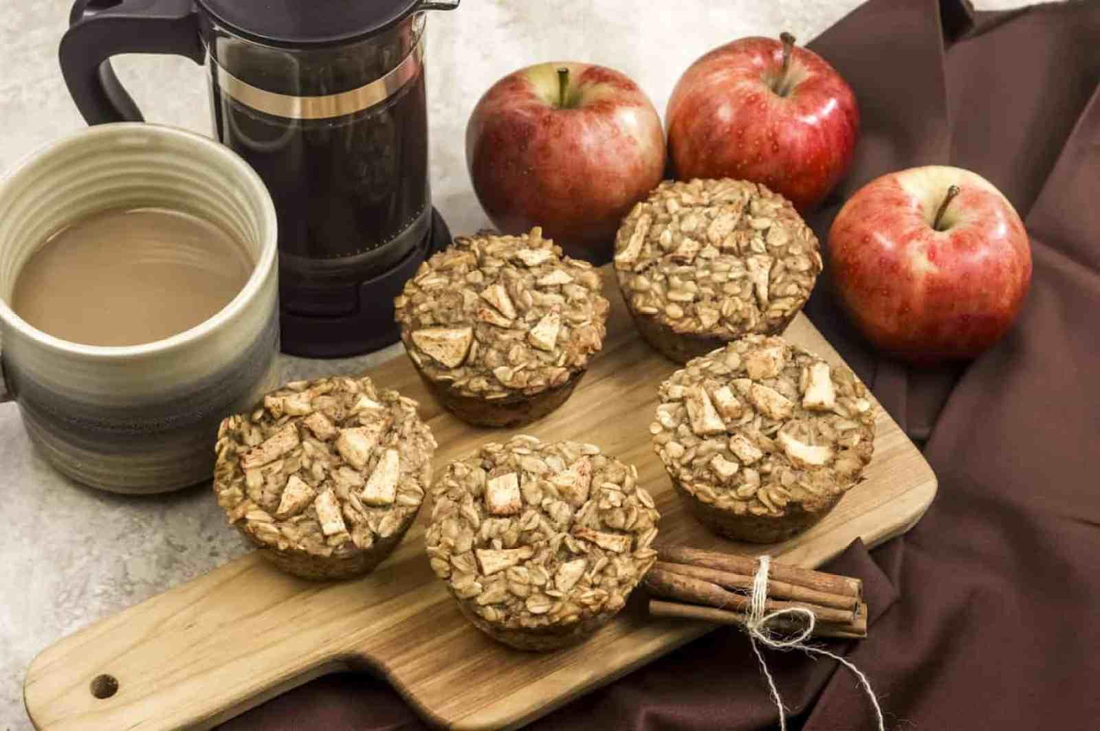 Apple Cinnamon Oatmeal Muffins finished
