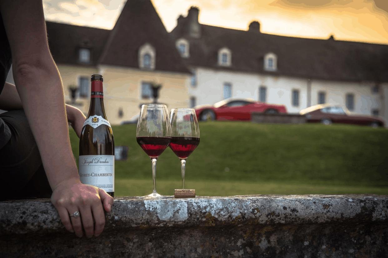 Wine glasses luxury travel