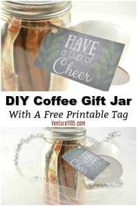 DIY Coffee Gift Jar – Easy Last Minute Gift Idea