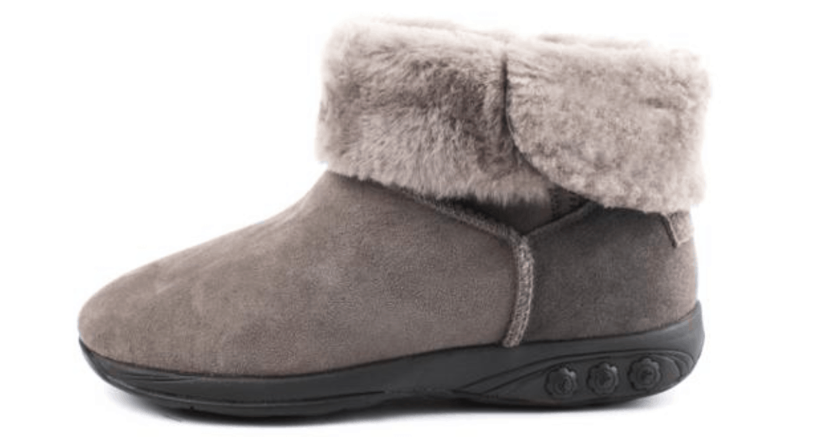 Grey Sheepskin Boots by Therafit