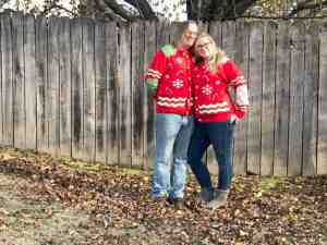 Matching Ugly Christmas Sweaters = L O V E!