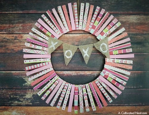 Round Wreath Made out of Clothespins