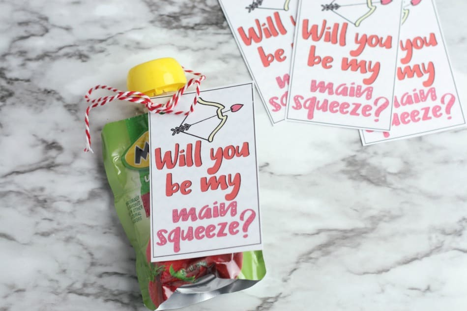 Main Squeeze Valentines Tie with a String