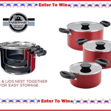 Enter the giveaway of these pots and pans
