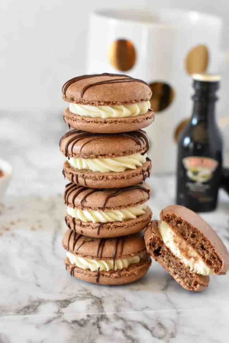 Bailey's Irish Cream Macarons