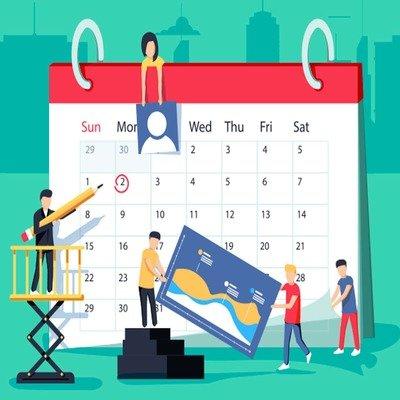 blogging schedule