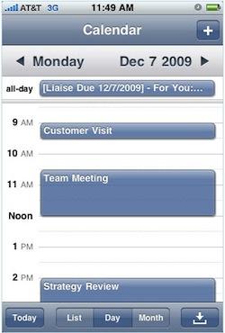 Liaise Mobile Calendar