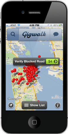 Gigwalk screen shot