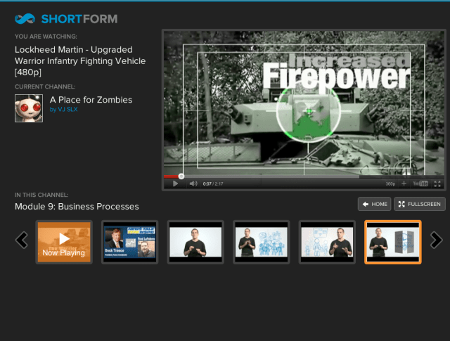 ShortForm Google TV screenshot
