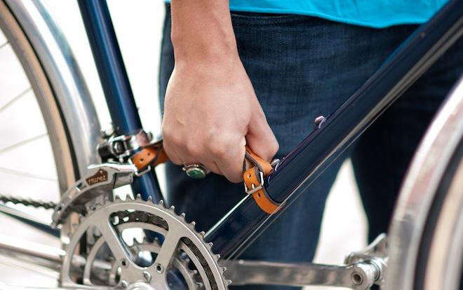 The Bike Frame Handle from Walnut Studiolo just raised almost $20K on Kickstarter