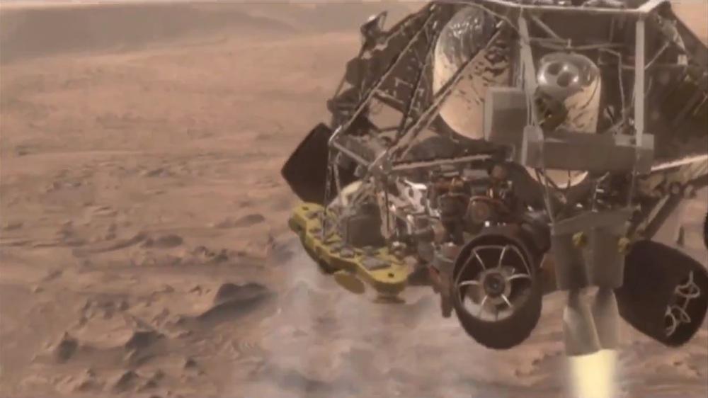 Mars landing fan video