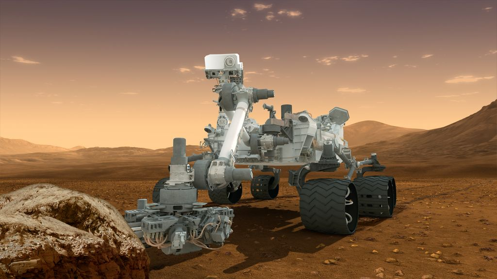 Artist's rendering of Curiosity, NASA's mars rover