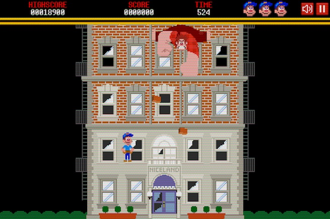 Fix-It Felix Jr. flash game