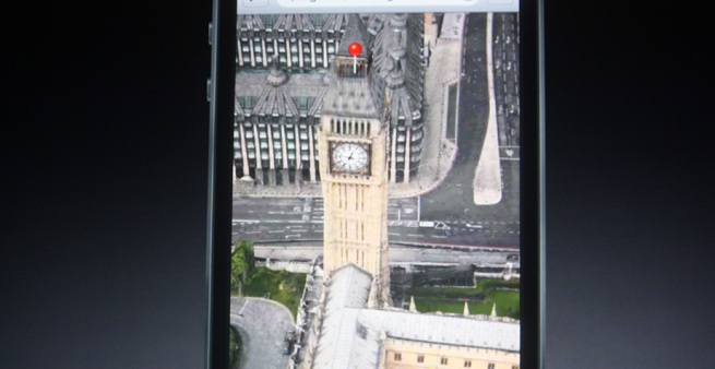 The awesome looking flyover view in Apple's new iPhone maps app on iOS 6