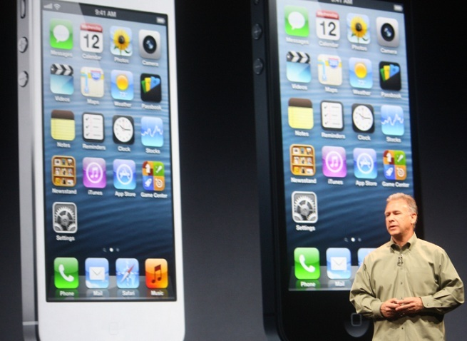 Apple exec Phil Schiller before images of the iPhone 5