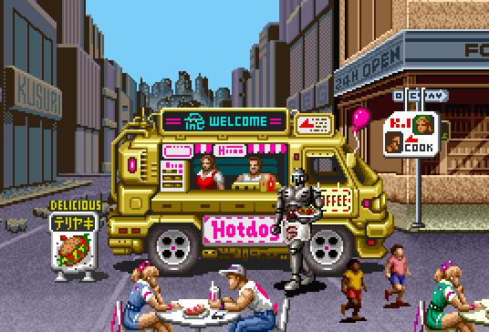 Alien hot dog wagon