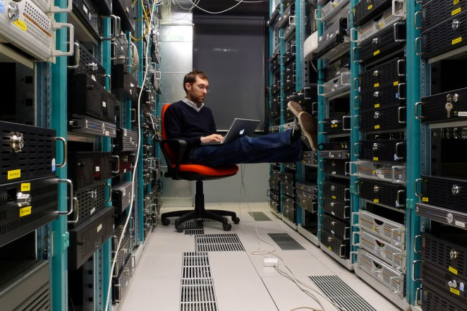 Guy in a data center