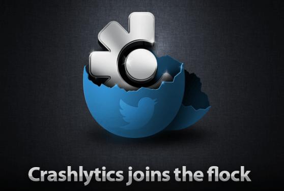 Promotional image announcing Twitter's acquisition of Crashlytics