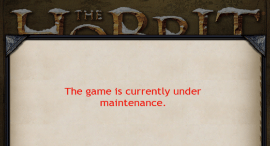Kingdoms of Middle-earth under maintenance