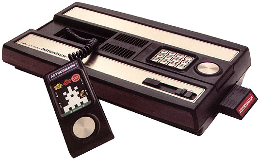 Intellivision console white background