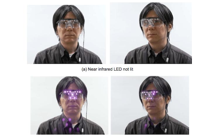LED privacy glasses
