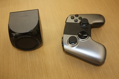 Ouya console and controller side