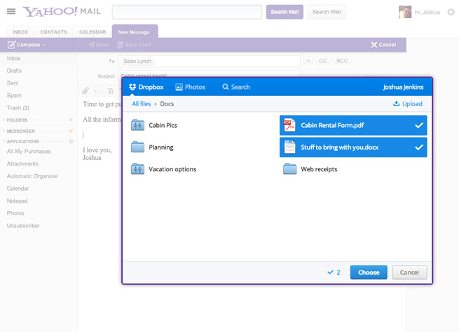 yahoo-dropbox-integration