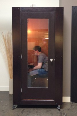Feeling like Superman? A phone booth -- literally -- at Launch Academy