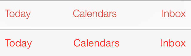 iOS 7 beta 2 versus iOS 7 beta 3 fonts