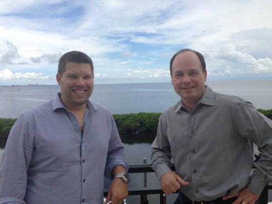 Jon Osvald and John Schappert of Shiver Entertainment. Nexon has invested in them.