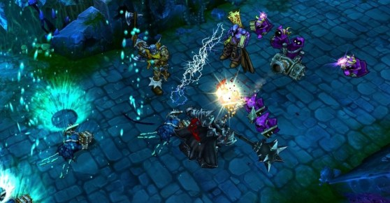 League of Legends in action.