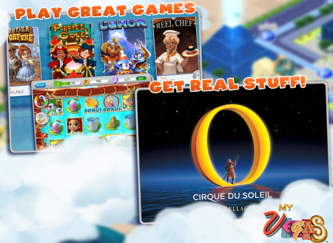 MyVegas rewards include free shows with Cirque du Soleil.