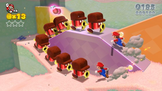 Two Marios usually makes things more difficult, and Nintendo uses that to introduce some new mechanics.