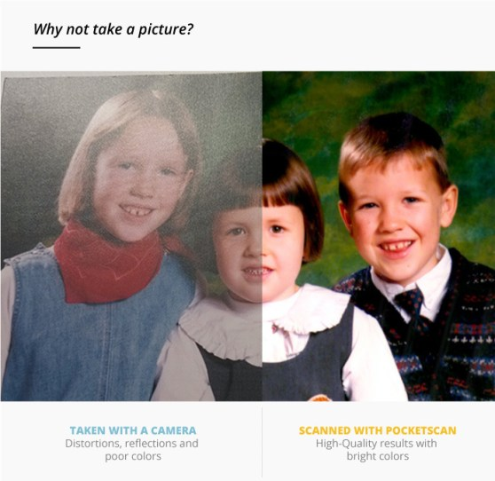 PocketScan compared to photograph