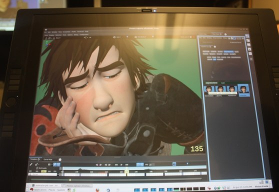 DreamWorks Animation's Premo tool can turn a smile into a frown instantly. I created this face.