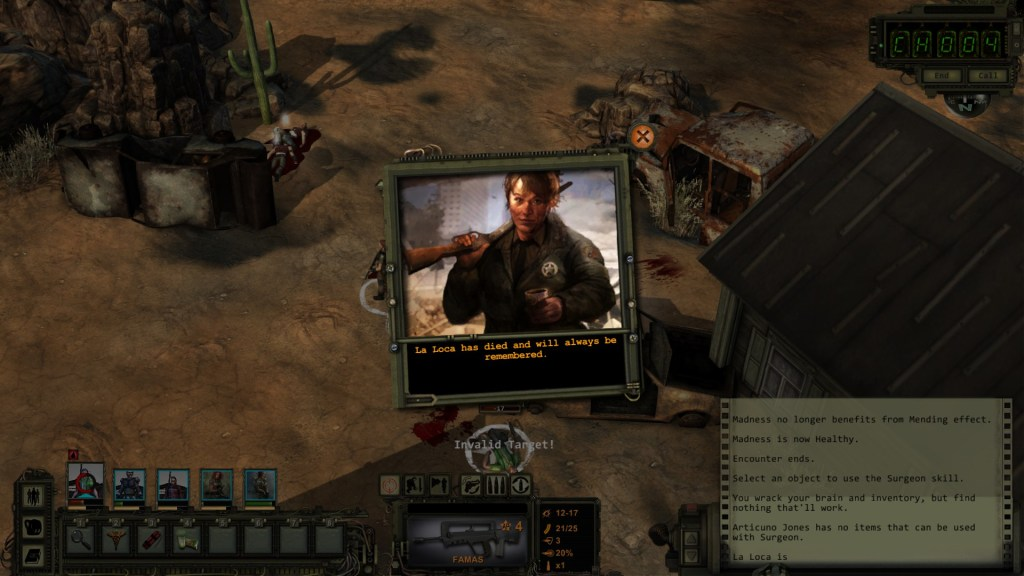 Wasteland 2 Death