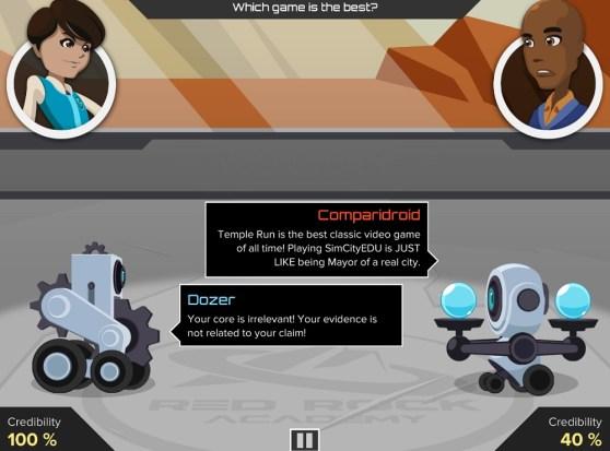 Argubot Academy argument battle