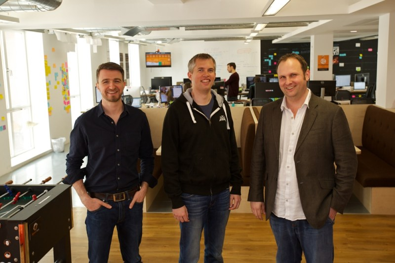 Space Ape founders (left to right) Toby Moore, John Earner, and Simon Hade.