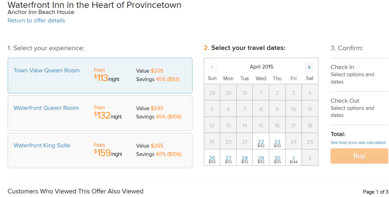 Amazon Destinations: Booking