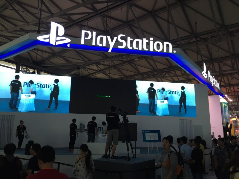 Sony showed off a Chinese-made game at the front of its PlayStation booth at ChinaJoy 2015.