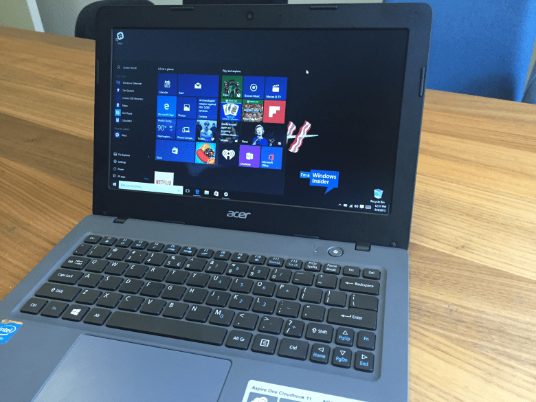 Hands On With The Acer Aspire One Cloudbook 11