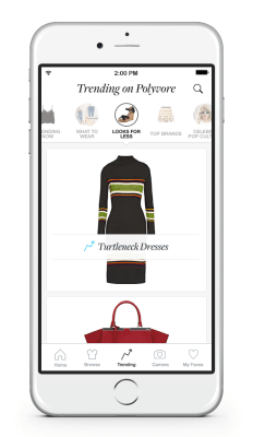 Polyvore Remix - homescreen with camera button
