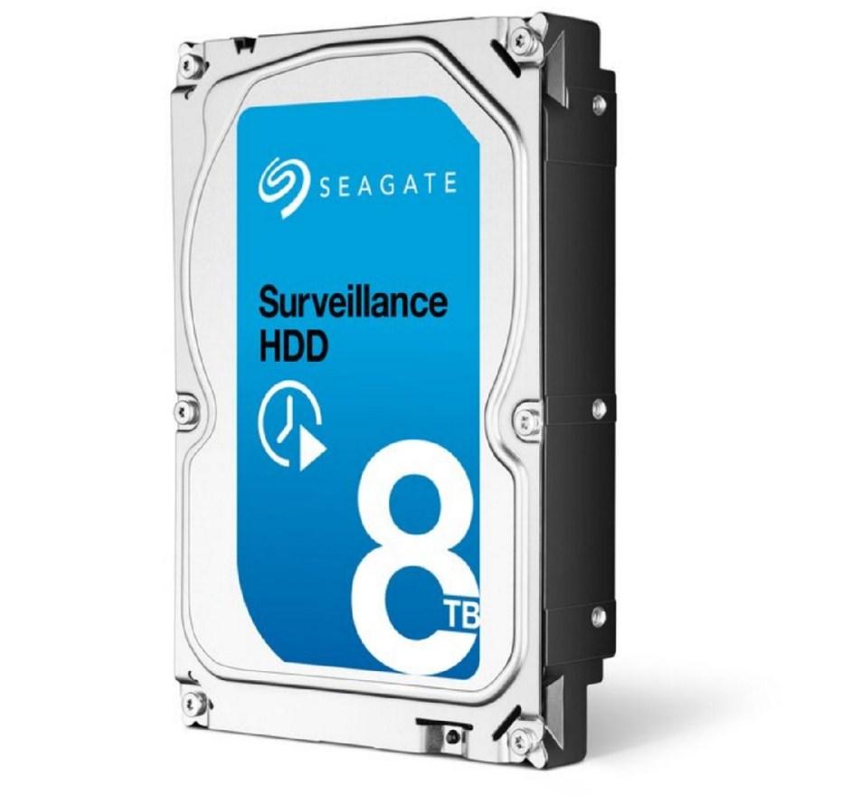 Seagate's 8-terabyte Surveillance hard disk drive.