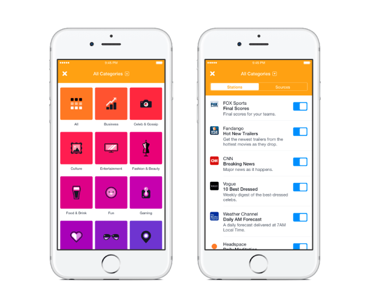 Notify - Pairing 1 (Categories and Stations)