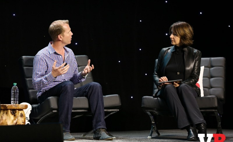 Michael Condrey of Sledgehammer Games and Nicole Lazzaro of XEO Design at GamesBeat 2016.